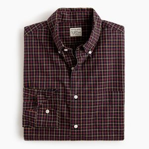 New J Crew Slim Stretch Secret Wash Poplin Shirt